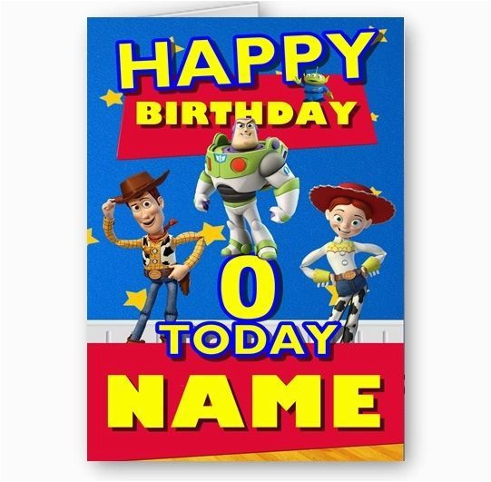 personalised name photo or age toy story a5 happy birthday card 4292 p
