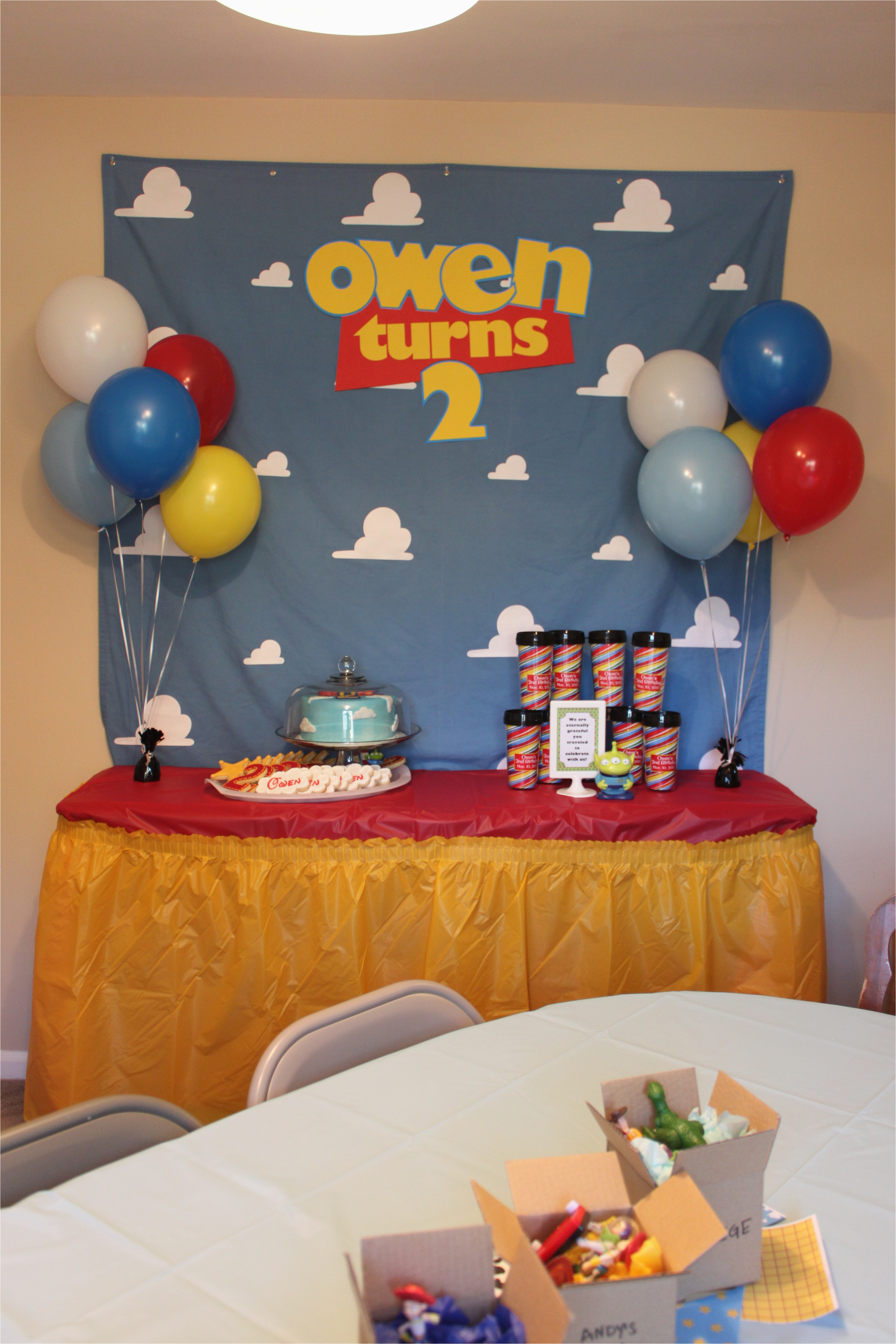 toy story birthday party the decorations