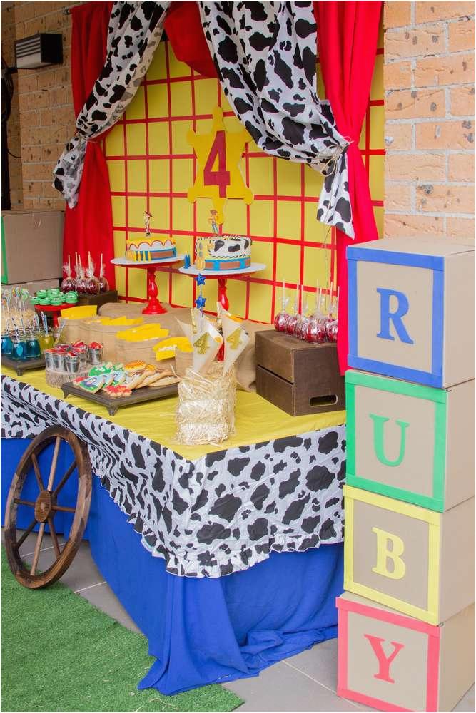 Toy Story Birthday Decoration Ideas Toy Story Cowboy Cowgirl