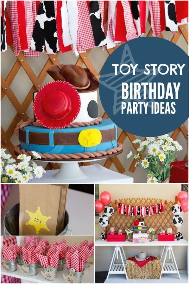 a toy story inspired joint birthday party