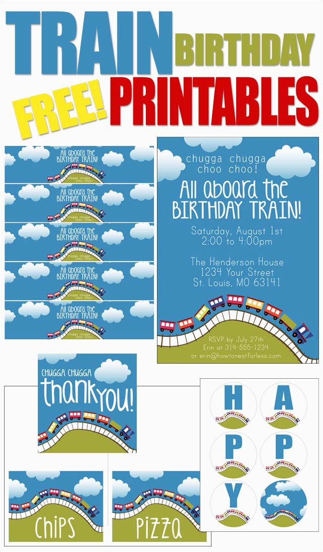 train birthday party with free printables how to nest