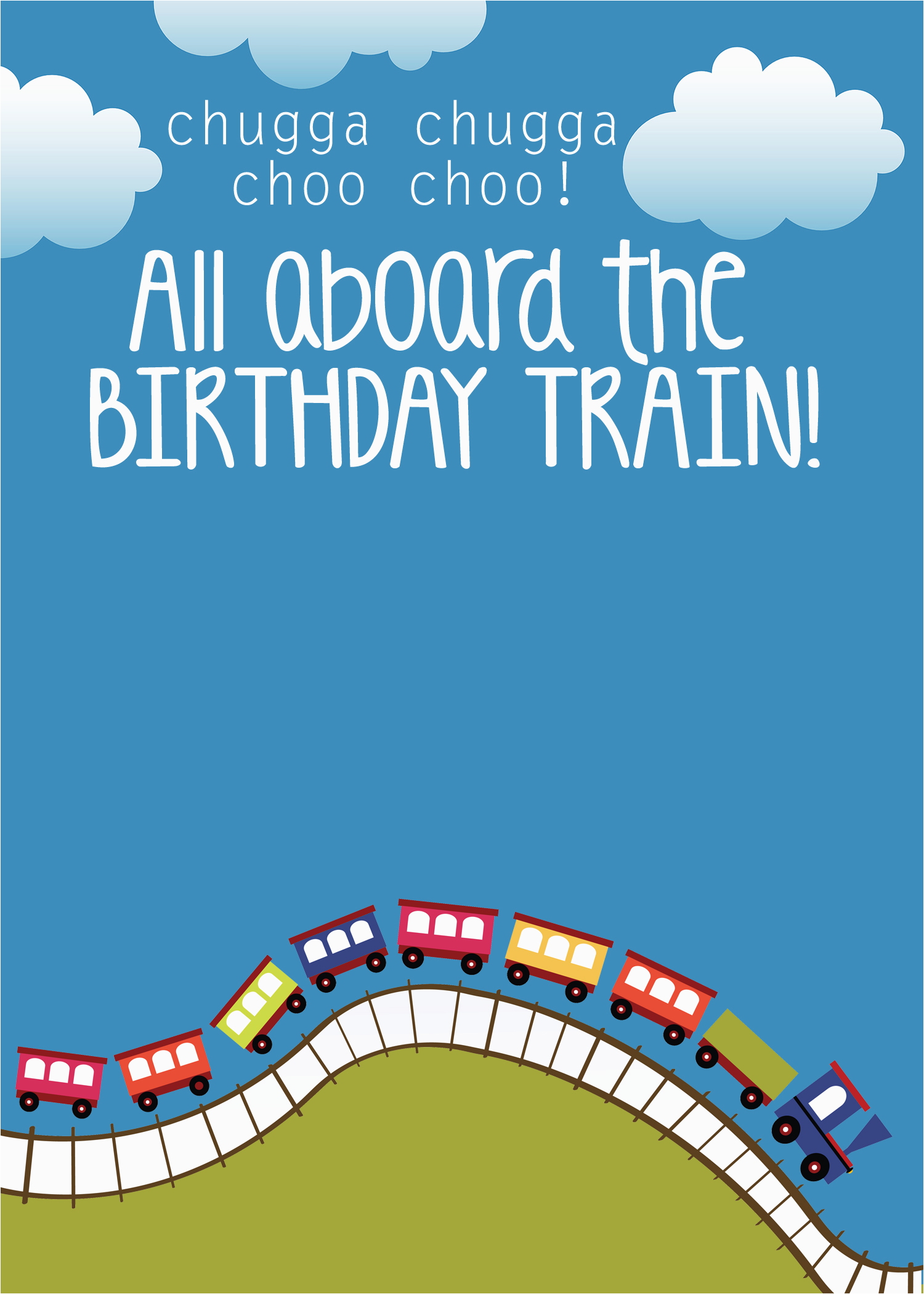 Train Birthday Card Printable Train Birthday Party with Free Printables How to Nest