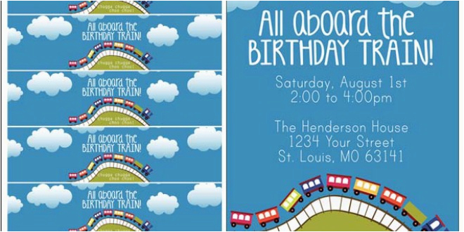 train themed birthday party free printables tip junkie