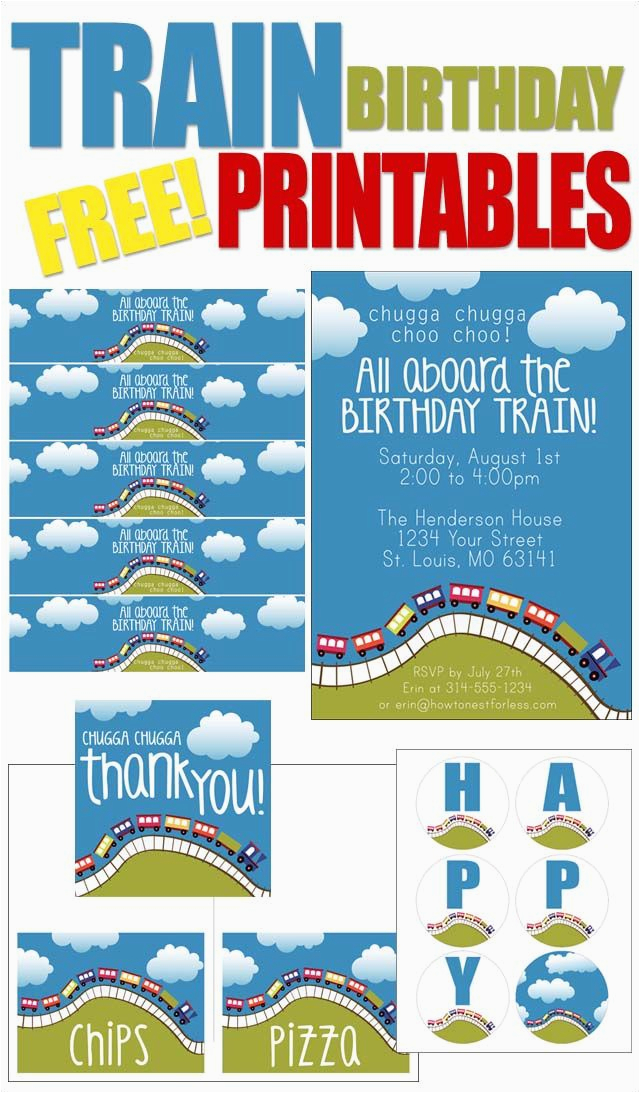 train themed birthday party with free printables themed