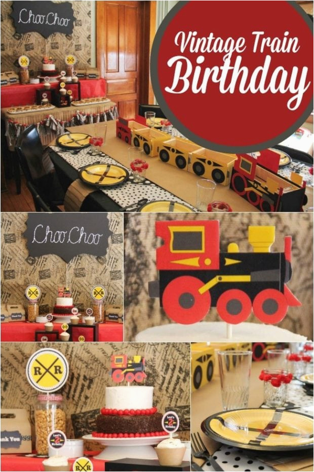 a choo choo train themed boys 2nd birthday party