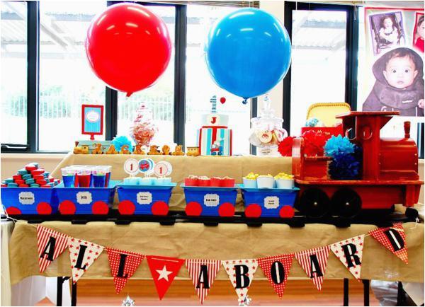 train themed birthday party