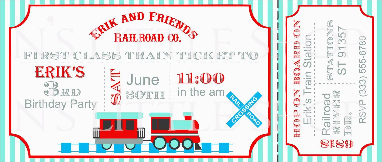 Train Ticket Birthday Invitation Template Train Ticket Birthday Invitation Template Best Party Ideas