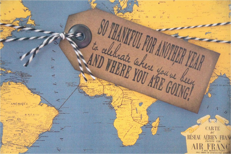 travel themed birthday card