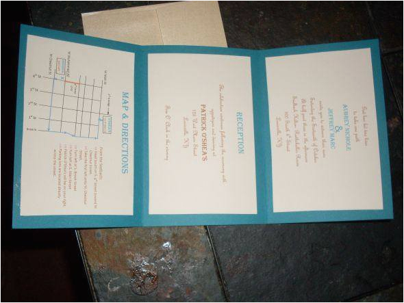 diy tri fold wedding invitations