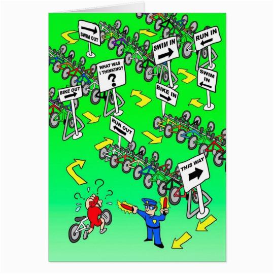 birthday card for triathlete triathlon cop zazzle com au