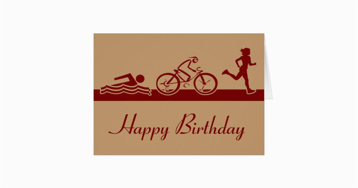 Triathlon Birthday Cards Ladies Happy Card Zazzle