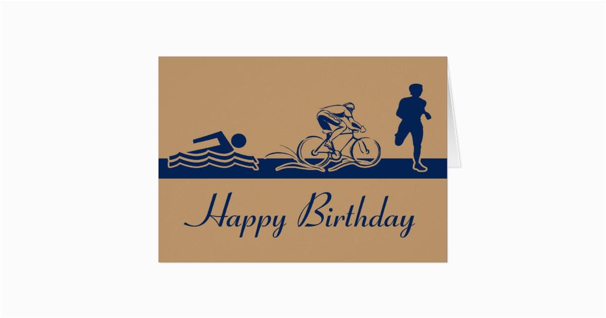 triathlon happy birthday card zazzle com