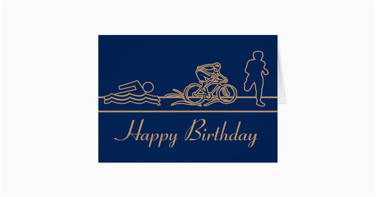 Triathlon Birthday Cards Happy Card Zazzle