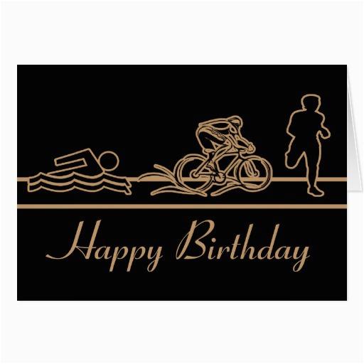 triathlon happy birthday card zazzle