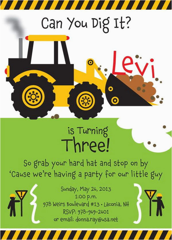 Truck themed Birthday Invitations 40 Construction themed Birthday Party Ideas Hative