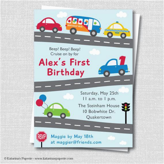 Truck themed Birthday Invitations Cars and Trucks Birthday Invitation Cars and by