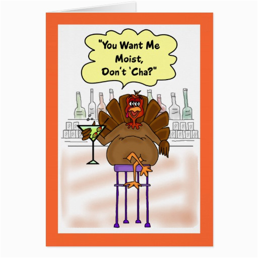 funny thanksgiving card moist turkey card zazzle