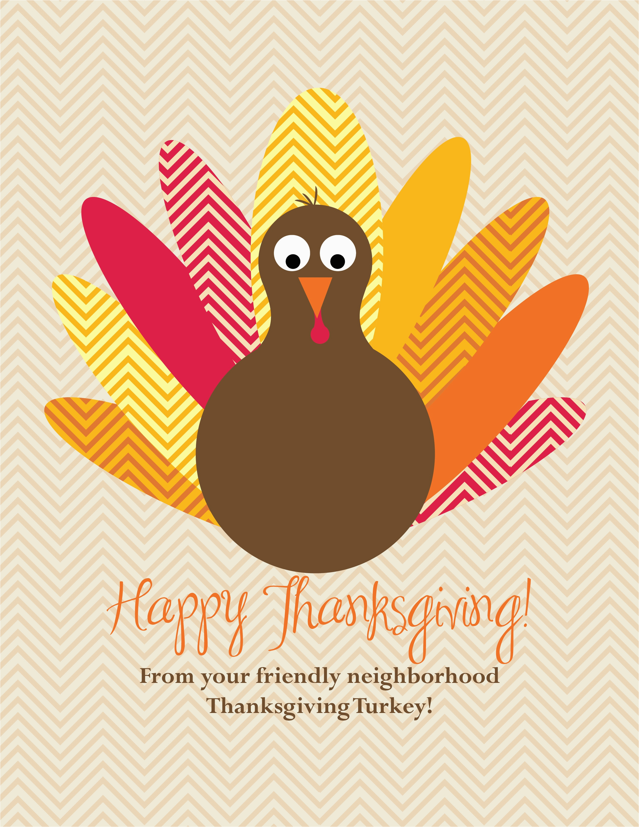 printable birthday card with a turkey awesome thanksgiving