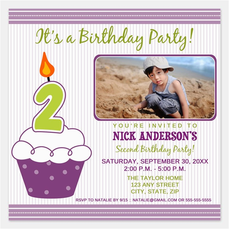 Turning Two Invitations Announcements