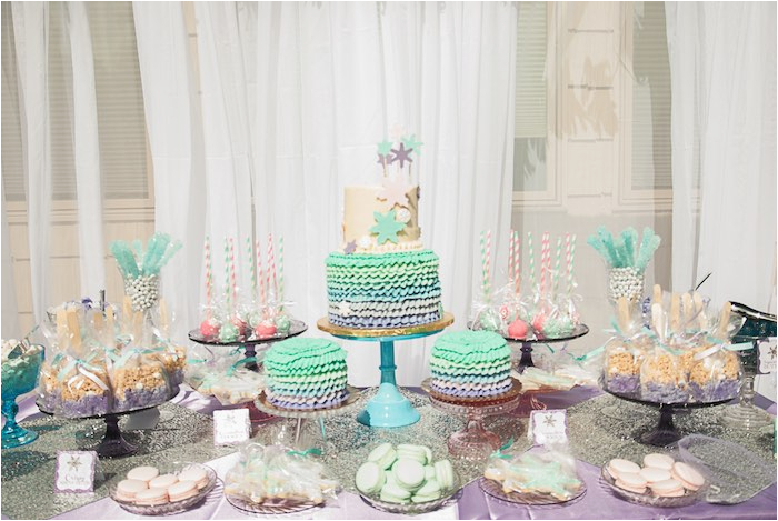 turquoise purple modern glam frozen birthday party