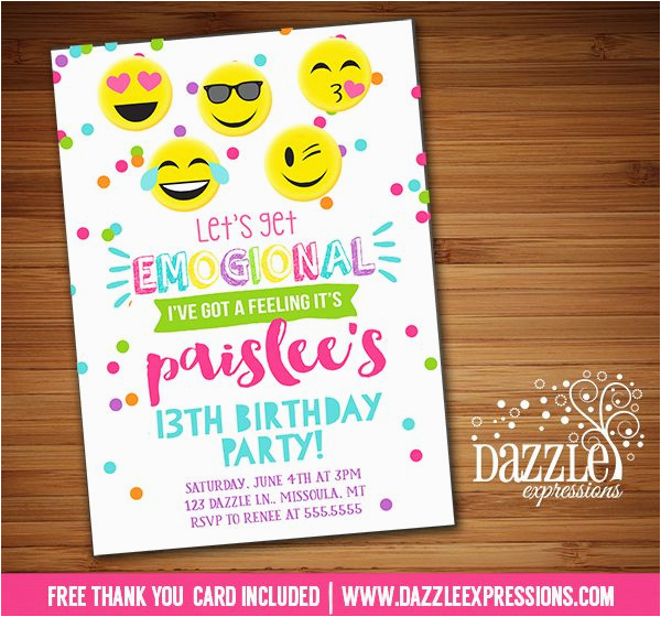 graphic regarding Free Printable Emoji B Day Invites known as Tween Birthday Invites Printable No cost Printable Tween