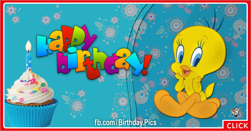 Tweety Birthday Card Her Tweety Birthday Cake Happy Birthday to You Happy