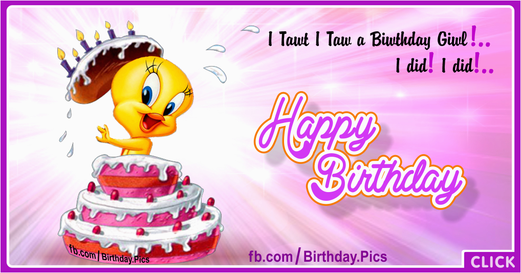 her tweety birthday cake