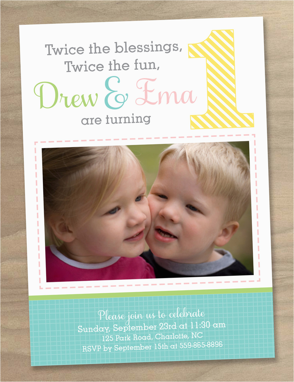 Twin 1st Birthday Invitations Happy Birthday Twins Boy and Girl Quotes Quotesgram