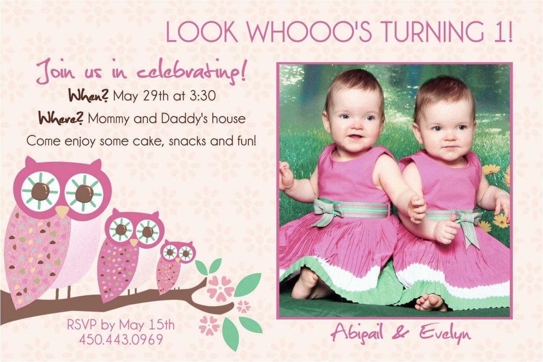 Twins 2nd Birthday Invitation Wording
