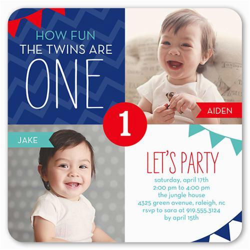 twin birthday invitations