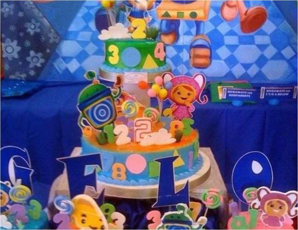 gelos umizoomi 2nd birthday pary