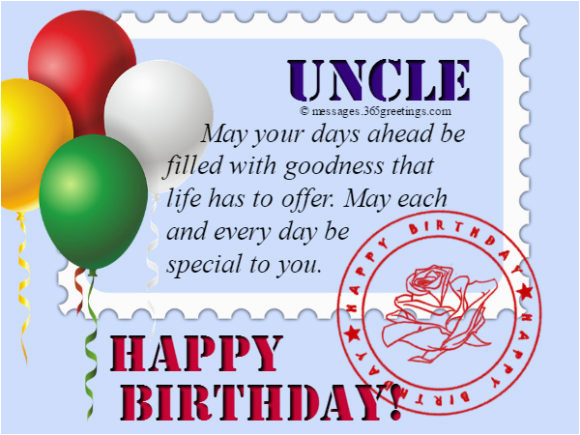 happy birthday card messages for uncle