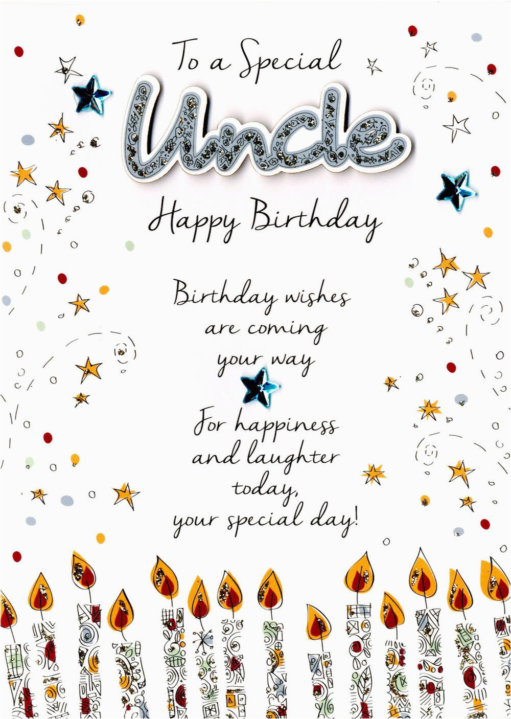 Uncle Birthday Card Messages Special Uncle Birthday Greeting Card