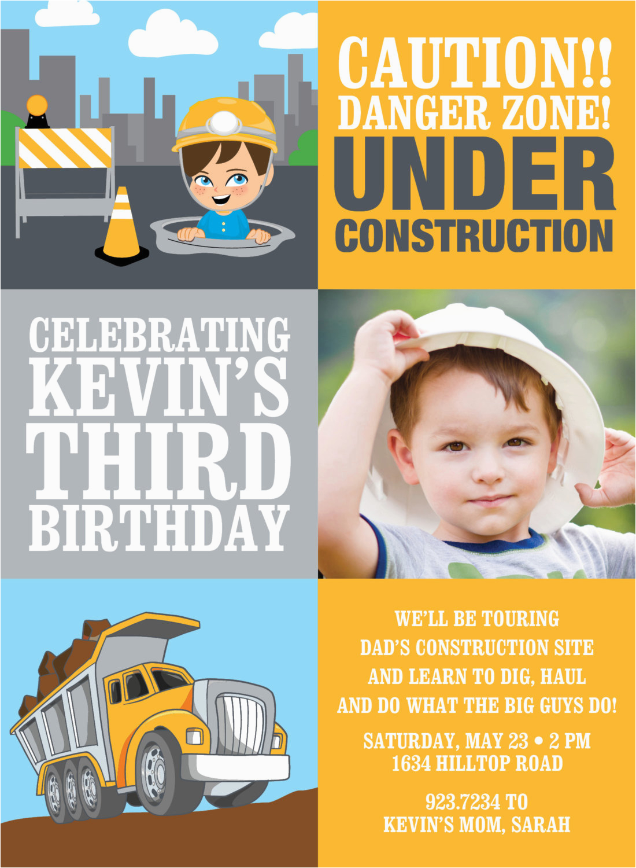 under construction photo invitation