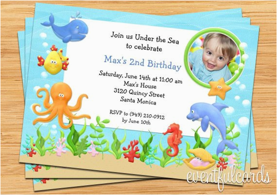 Under The Sea Birthday Party Invitations Free Printable Invitation By