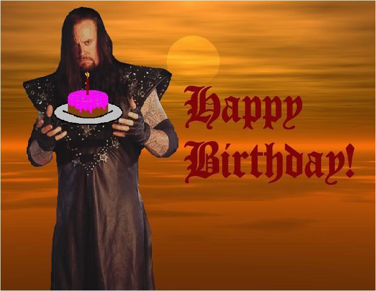 Undertaker Birthday Card Happy Birthday Undertaker Version Photo by
