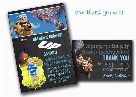 Up Movie Birthday Invitations Invitation Pixar