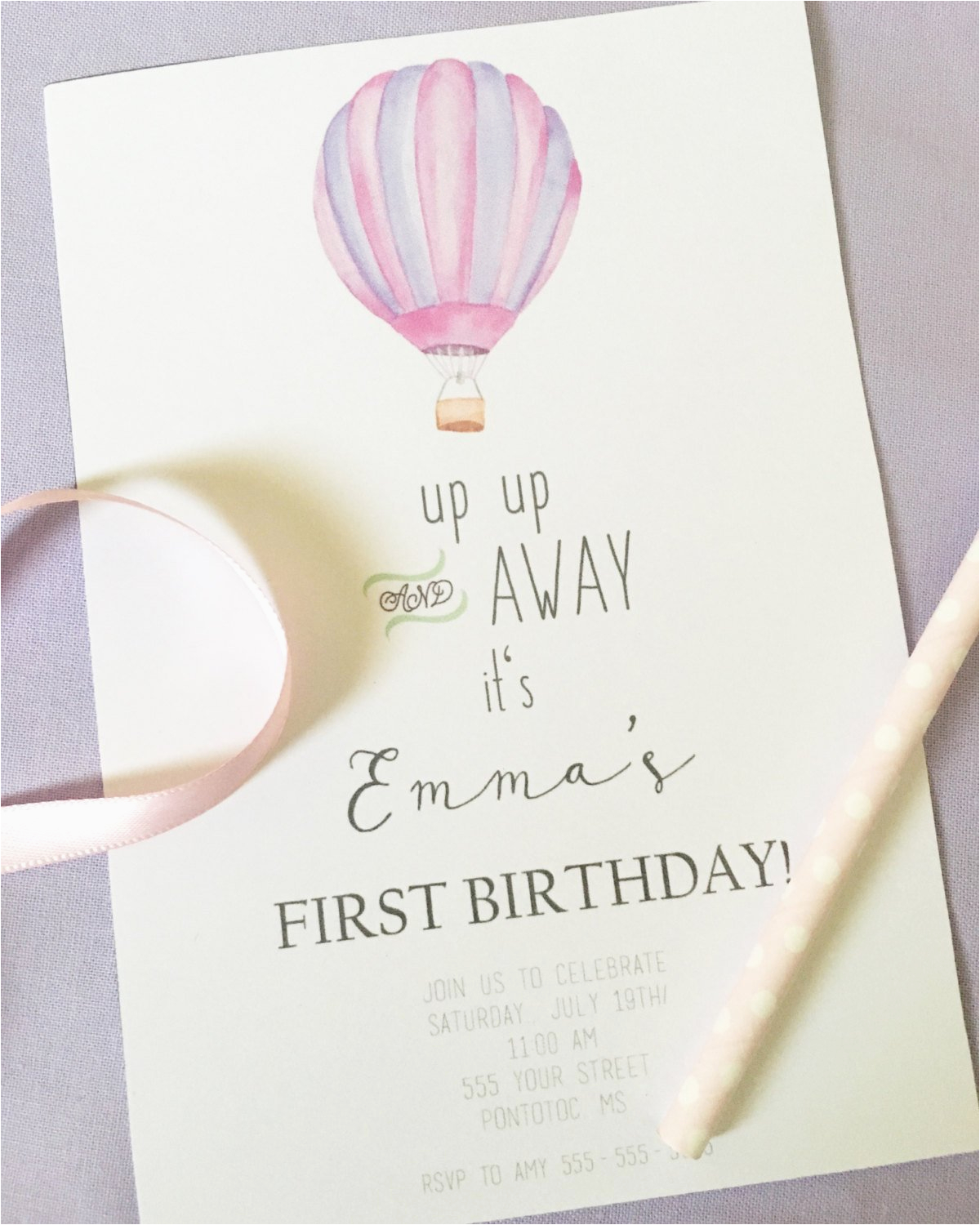 Up Up and Away Birthday Invitations Up Up and Away Invitation Children 39 S Birthday Invitation