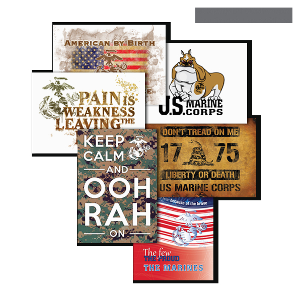 greeting card marine corps 6 designs pkg of 6