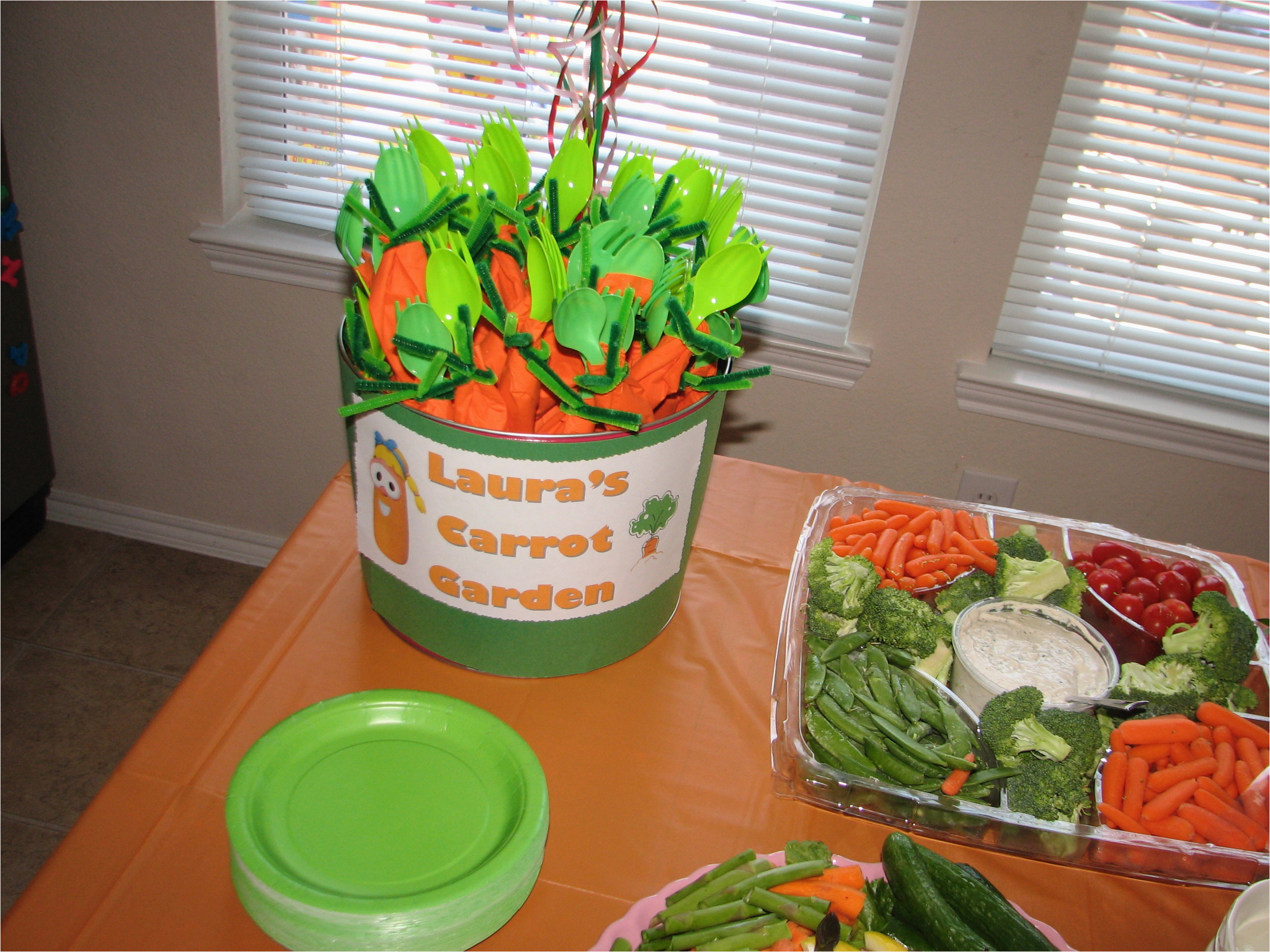 a veggie tales 4th birthday party