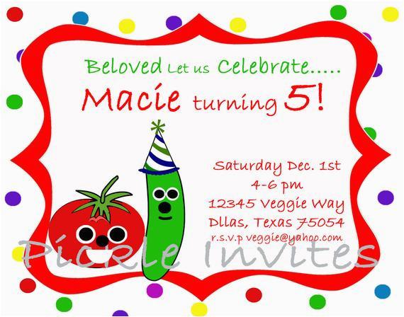 veggie tales inspired birthday
