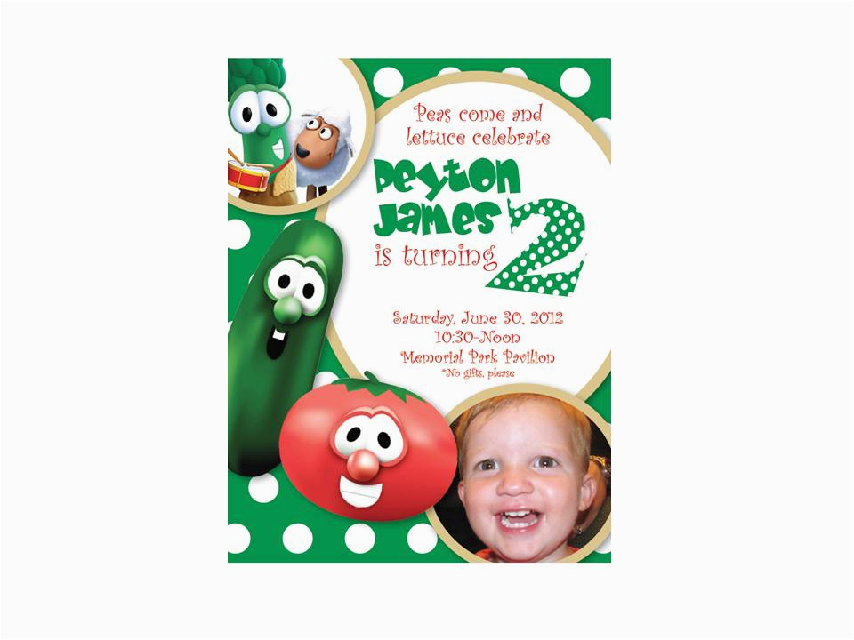 peyterbugs 2nd birthday veggie tales