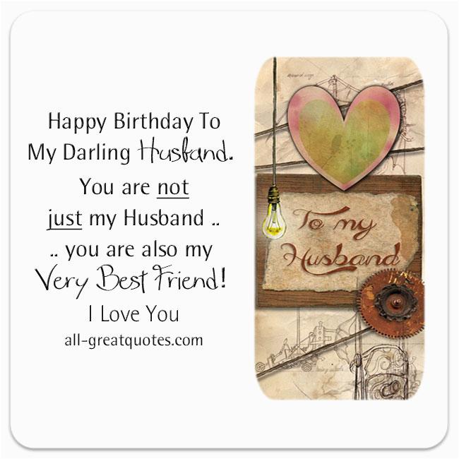 Verse For Husband Birthday Card