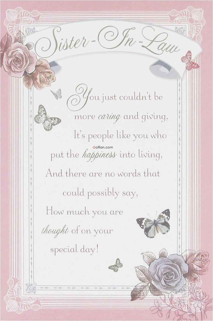 Verses For Birthday Cards Sister 70 Most Beautiful Wishes In Law