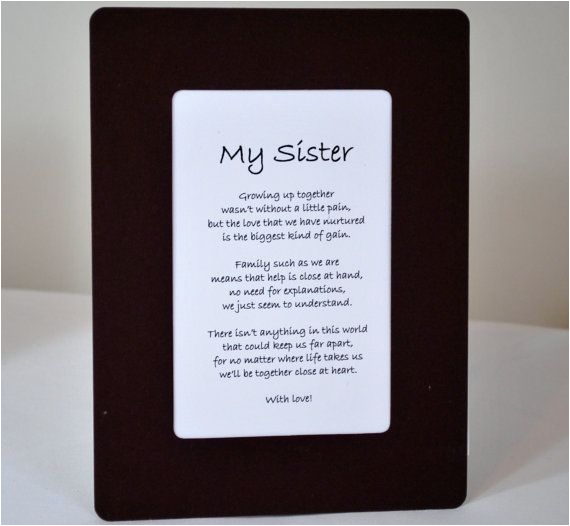 sister gift for birthday or christmas two verses by