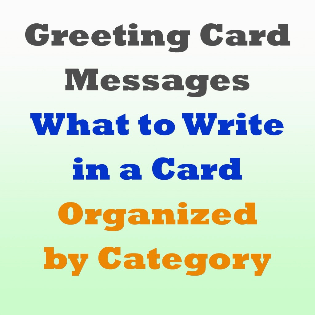 greeting card messages examples of what to write