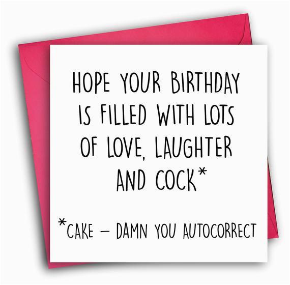 funny birthday card rude birthday card