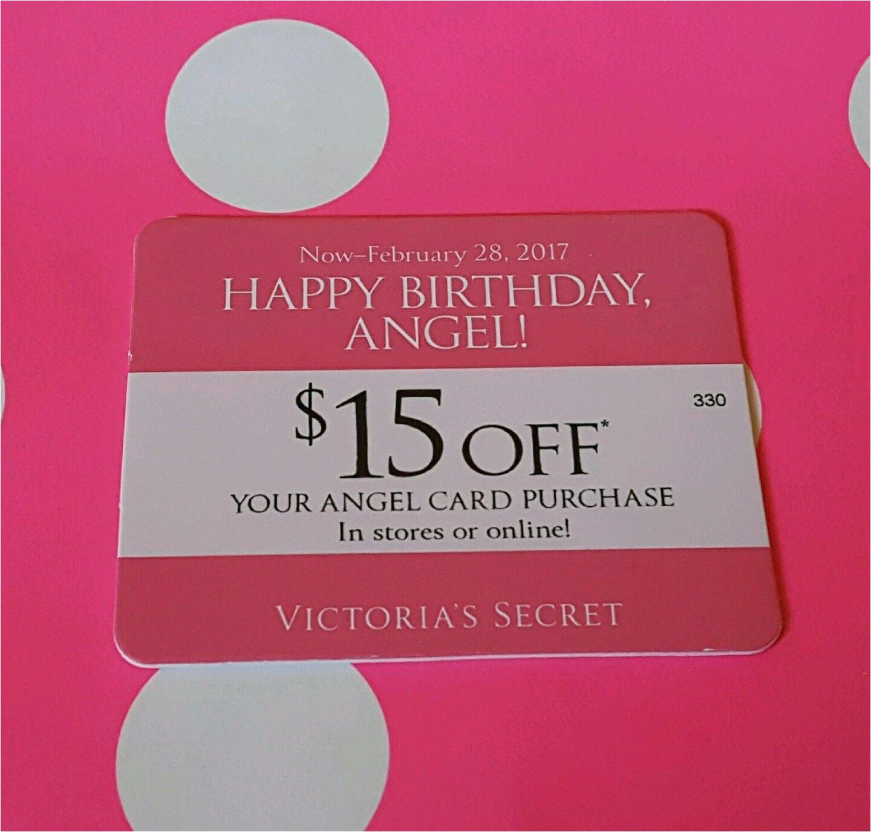 Victoria S Secret Angel Card Birthday Gift Nice 39 15 Off Happy