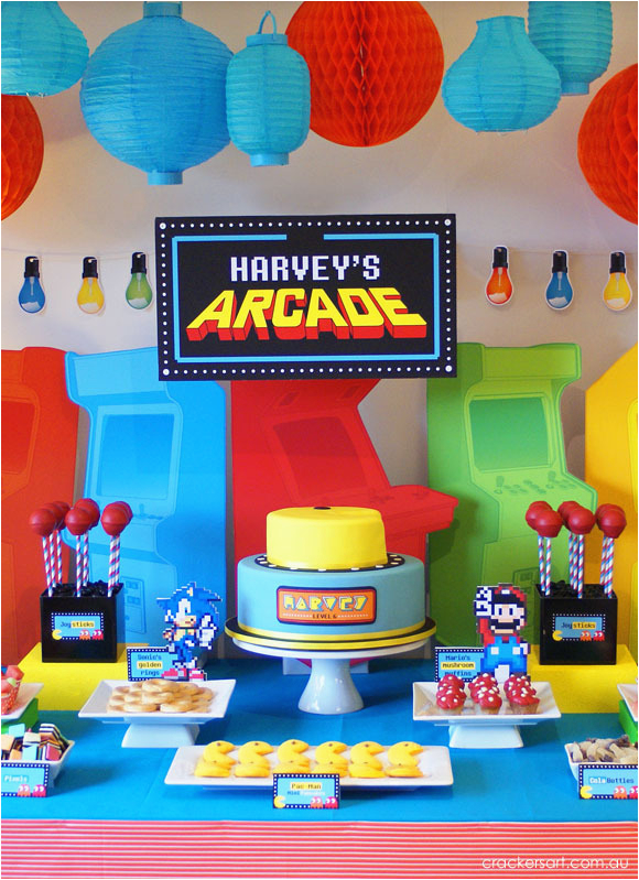 arcade video game themed birthday party