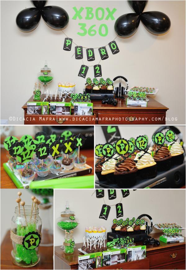 xbox themed 12th birthday party